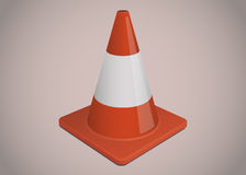 Traffic or safety cone illustration Royalty Free Stock Photos