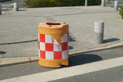Traffic safety instructions barrel Royalty Free Stock Photos