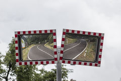 Traffic safety mirrors Stock Photo
