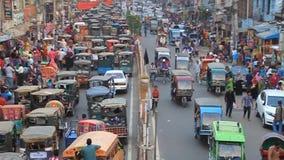 Traffic at Saheb Bazar Road in Rajshahi, Bangladesh. Rajshahi, Bangladesh - November 9, 2016: Traffic at Saheb Bazar Road in Rajshahi, Bangladesh stock video