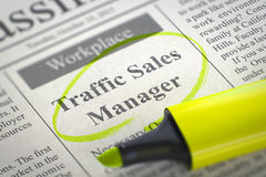 Traffic Sales Manager Join Our Team. 3D. Royalty Free Stock Photo
