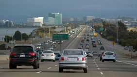 Traffic in San Francisco California. SAN FRANCISCO - MAY 21 2015:Traffic in San Francisco.SF has the 2cond-worst congestion in the United States.On average royalty free stock photography
