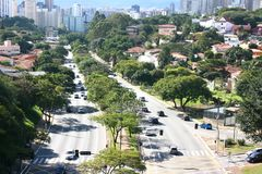 Traffic in Sao Paulo Stock Photography