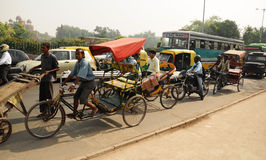 Traffic scene from Old Delhi, India Royalty Free Stock Photos