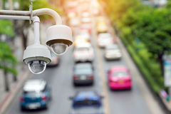Traffic security camera surveillance (CCTV) Royalty Free Stock Images