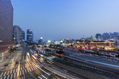 Traffic at Seoul Station Stock Photography