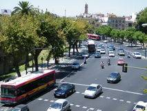 Traffic in Seville Royalty Free Stock Images