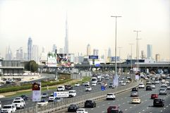 Traffic at the Sheikh Zayed Road Royalty Free Stock Image