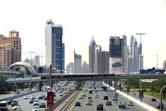 Traffic at the Sheikh Zayed Road Stock Photography