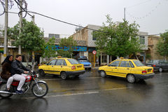 Traffic in Shiraz, Iran Royalty Free Stock Photos