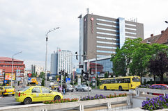 Traffic Sibiu royalty free stock photography