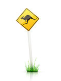 Traffic Sign – Warning. Warning Traffic Sign on White Background Stock Photography