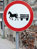Traffic sign. Horse and carriage traffic sign Stock Images