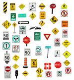 Traffic sign. Isolated on white background Stock Photography