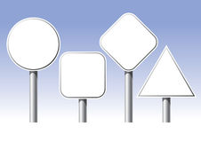 Traffic sign. The picture of four different traffic sign royalty free illustration