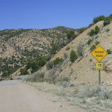 Traffic sign. Rough raod on a rough road Stock Image