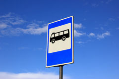 Traffic sign. Traffic the index a bus stop Stock Photo