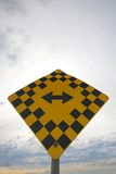 Traffic sign. Left and right direction Royalty Free Stock Photo