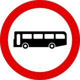 Traffic Sign. No buses Stock Image