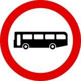 Traffic Sign. No buses Stock Illustration