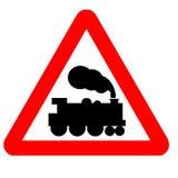 Traffic Sign. Warning, Train Approaching vector illustration