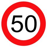 Traffic sign 50 stock illustration