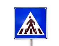 Traffic sign. Pedestrian zebra crossing traffic sign Royalty Free Stock Image