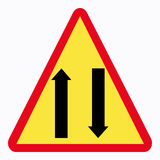 Traffic sign. Two way Stock Illustration