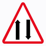 Traffic sign. Two way Vector Illustration