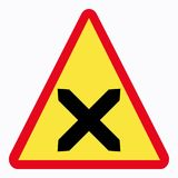 Traffic sign. Intersection road sign Vector Illustration