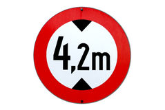 Traffic sign altitude limitation. A traffic sign for 4,2 m altitude limitation Stock Photos