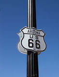 The traffic sign in Arisona, Historic route 66 Royalty Free Stock Image
