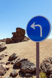 Traffic sign on a background of stones Royalty Free Stock Images
