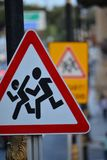 Traffic sign Baku City royalty free stock image