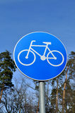 Traffic sign (bicycle path) Royalty Free Stock Photo
