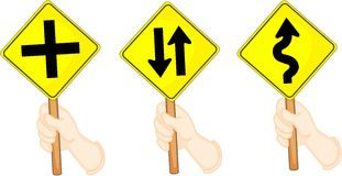 Traffic sign boards Stock Photos
