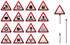 Traffic Sign Button Set Royalty Free Stock Images