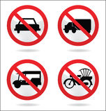 Traffic sign of car Stock Photo