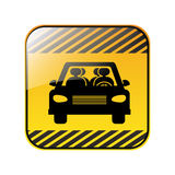 Traffic sign of car crossing Stock Photography
