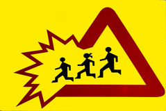 Traffic sign - children Royalty Free Stock Images