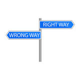 Traffic sign choice of path Royalty Free Stock Photography