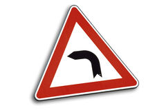 Traffic sign, close-up Royalty Free Stock Photo