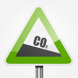 Traffic Sign CO2 Stock Photography