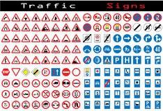 Traffic sign collection Stock Photography