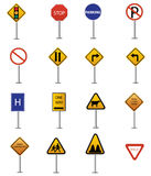 Traffic sign collection Stock Photos