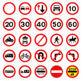 Traffic Sign Collection Royalty Free Stock Photography