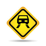 Traffic sign concept icon car road Stock Photography