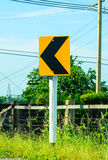 Traffic sign. In a country Royalty Free Stock Photos