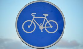 Traffic sign, cycling Royalty Free Stock Images