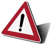 Traffic sign danger Royalty Free Stock Photo